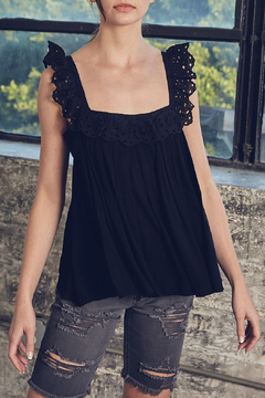 Shoptiques Product: Lace Detailed Tank