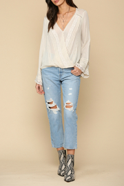 By Together  lace detailed Top - Front cropped