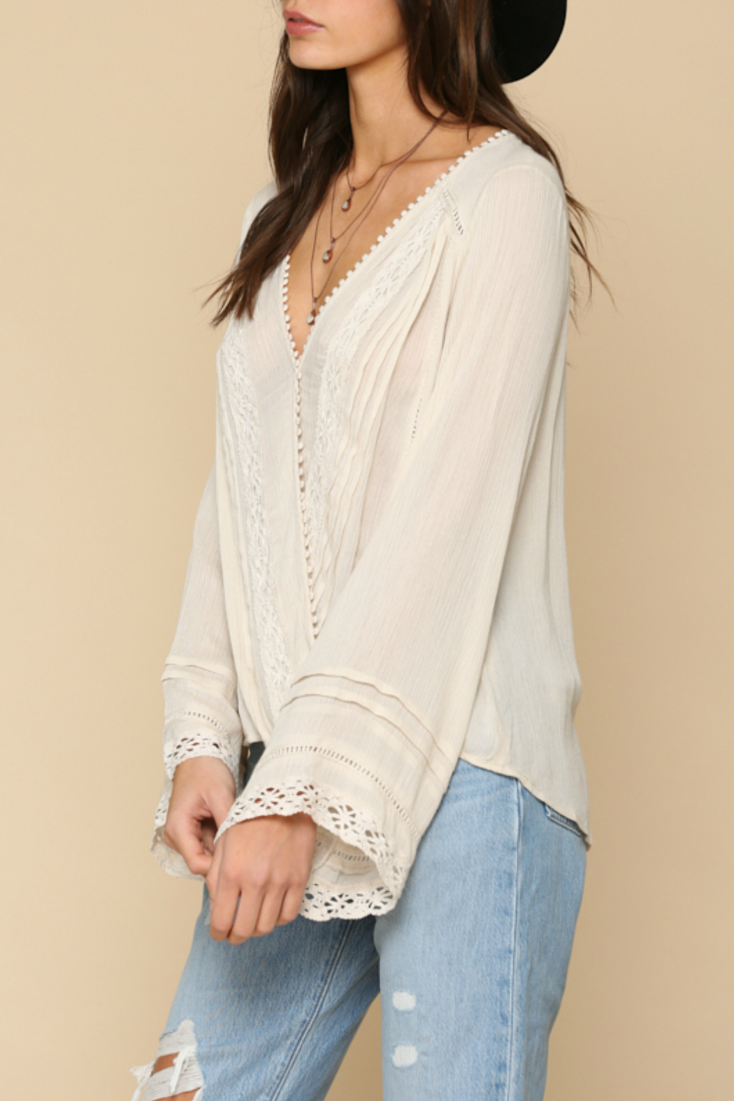 By Together  lace detailed Top - Front Full Image