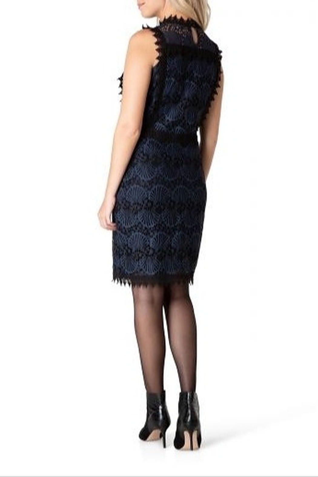 Yest  Peacoat Lace Dress - Front Full Image