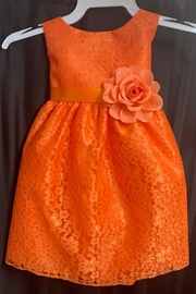 Calla Collection  Lace Dress w/ Flower - Front cropped