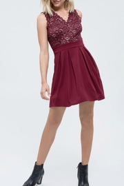 Blu Pepper Lace Dress with exposed zipper - Product Mini Image
