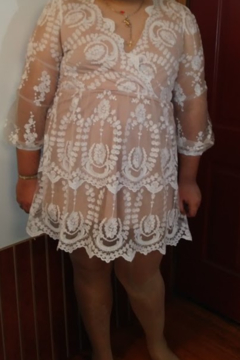 Shein Lace Dress with Nude Lining size 2X New W/O Tags - Alternate List Image
