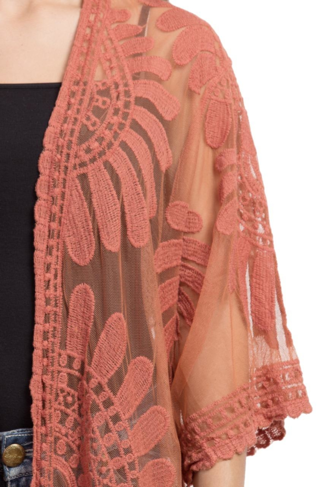 Raj Lotus Lace Duster - Side Cropped Image