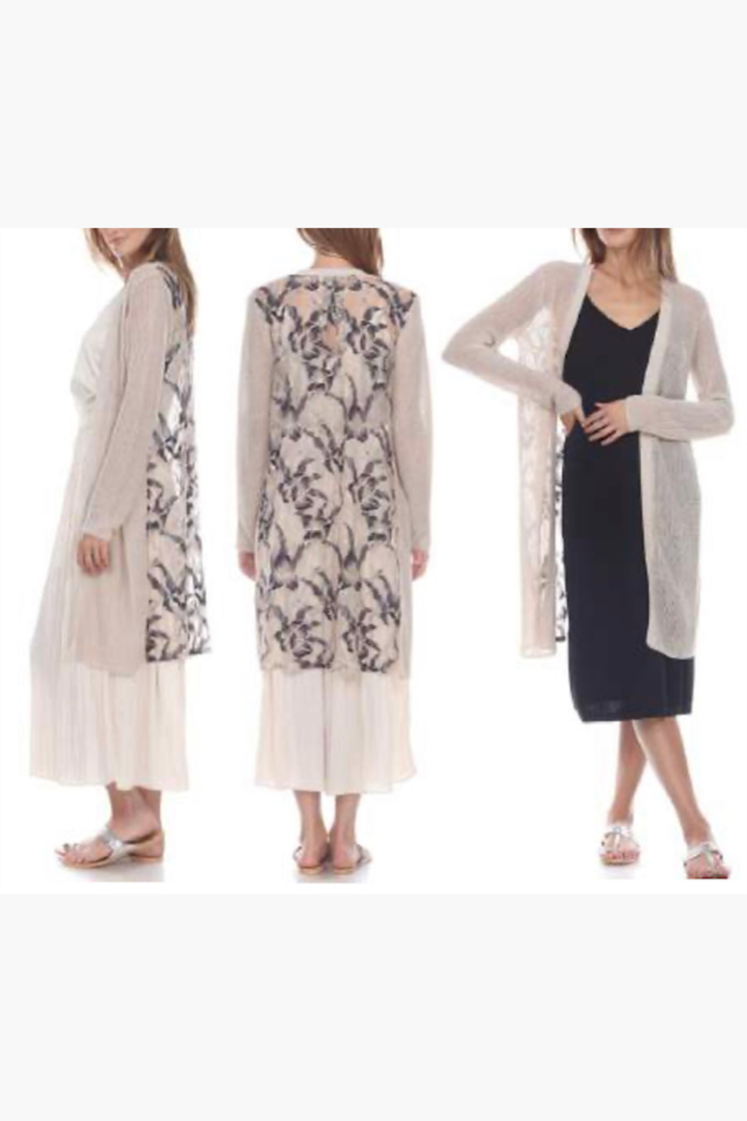 Zero Degrees Celsius Lace Duster Cardigan - Front Full Image
