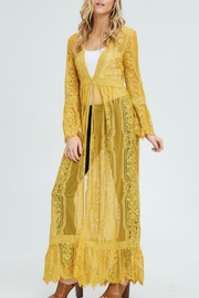In Loom Lace Duster Cardigan - Product Mini Image