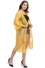 Raj Lotus Lace Duster - Front full body