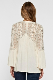 Love Stitch Lace Embellished Bell-Sleeve - Side cropped