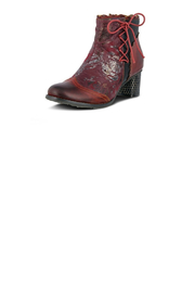 Spring Footwear Lace Embossed Bootie - Front full body