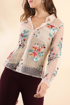 Shoptiques Product: Lace Embroidered Blouse