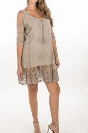 KIMBALS LACE & EMBROIDERED COLD SHOULDER DRESS - Product Mini Image