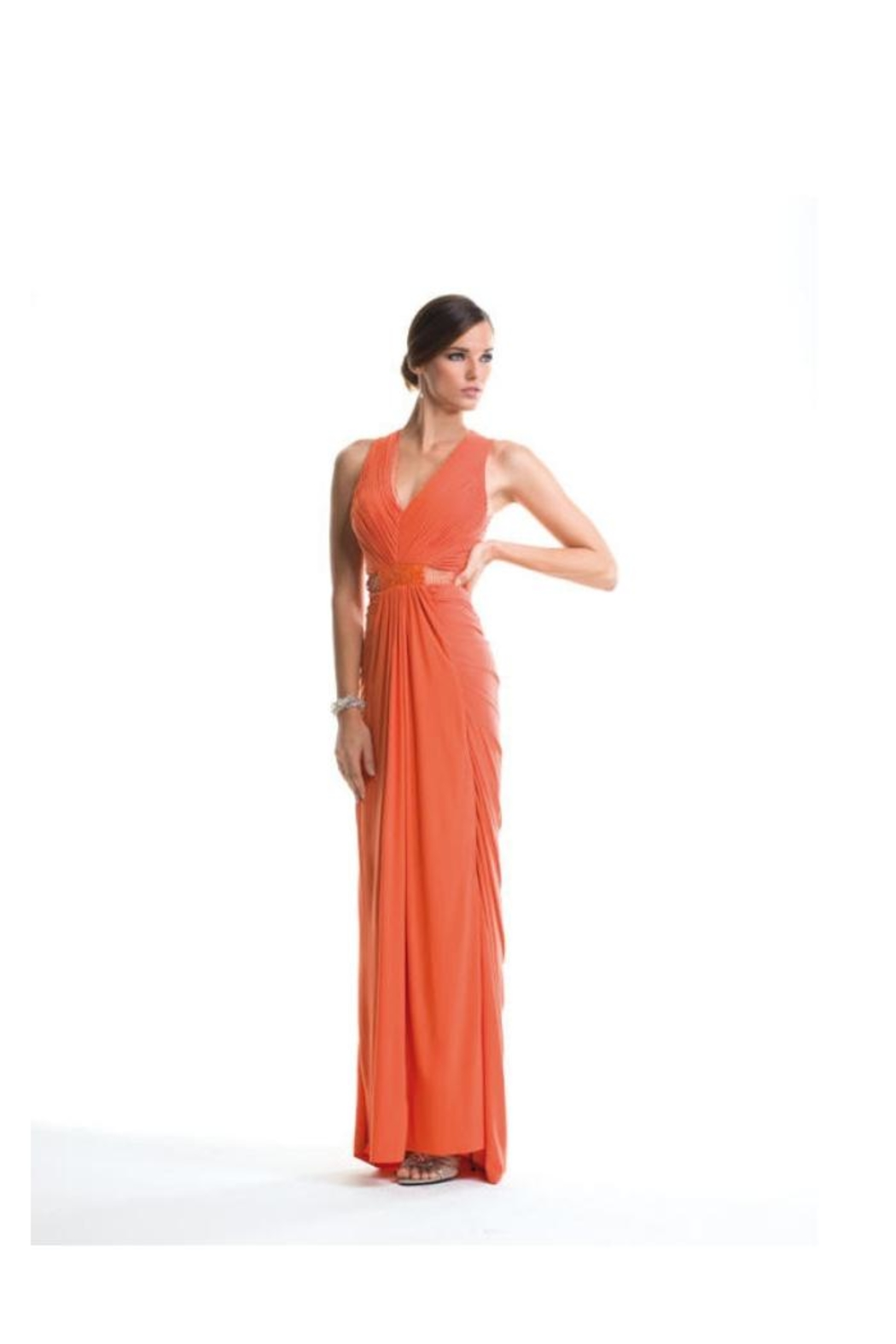 Alberto Makali Lace Embroidered Gown - Main Image