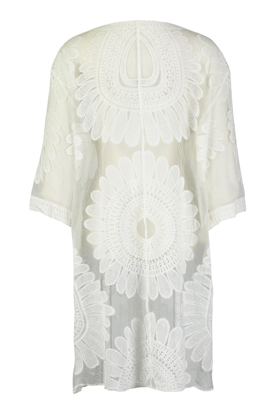 Tempo Paris Lace Embroidered Kimono - Front Full Image