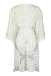 Tempo Paris Lace Embroidered Kimono - Front full body