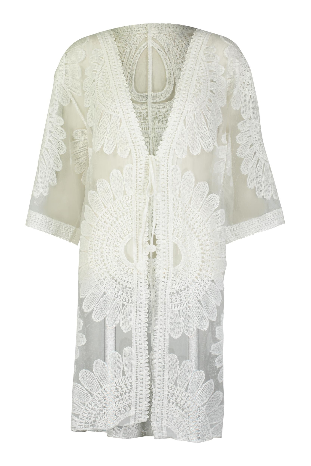 Tempo Paris Lace Embroidered Kimono - Main Image