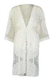 Tempo Paris Lace Embroidered Kimono - Front cropped
