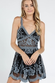 Wild Honey Lace Embroidered Romper - Product Mini Image