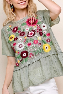 Shoptiques Product: Lace Embroidered Top