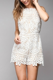 Pretty Little Things Lace Embroidery Romper - Product Mini Image