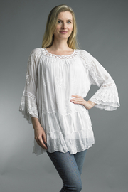 Tempo Paris  LACE EMBROIDERY TUNIC - Product Mini Image