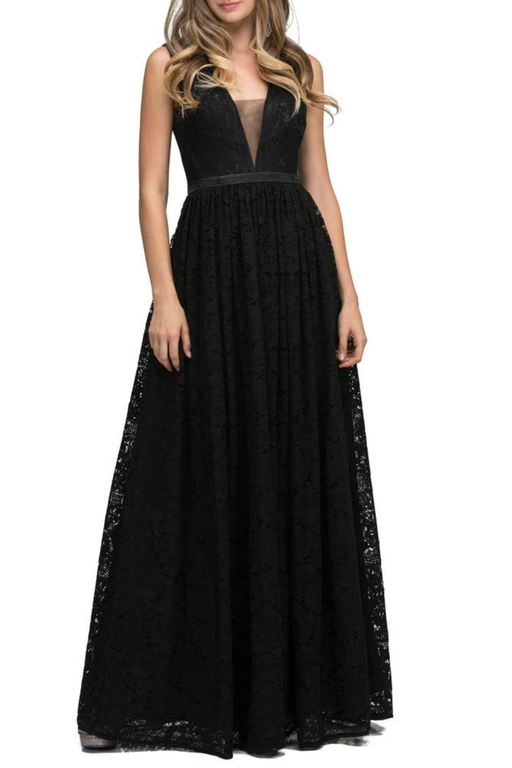 Lucci Lu Lace Empire Gown - Front Cropped Image