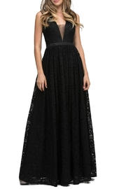Lucci Lu Lace Empire Gown - Front cropped