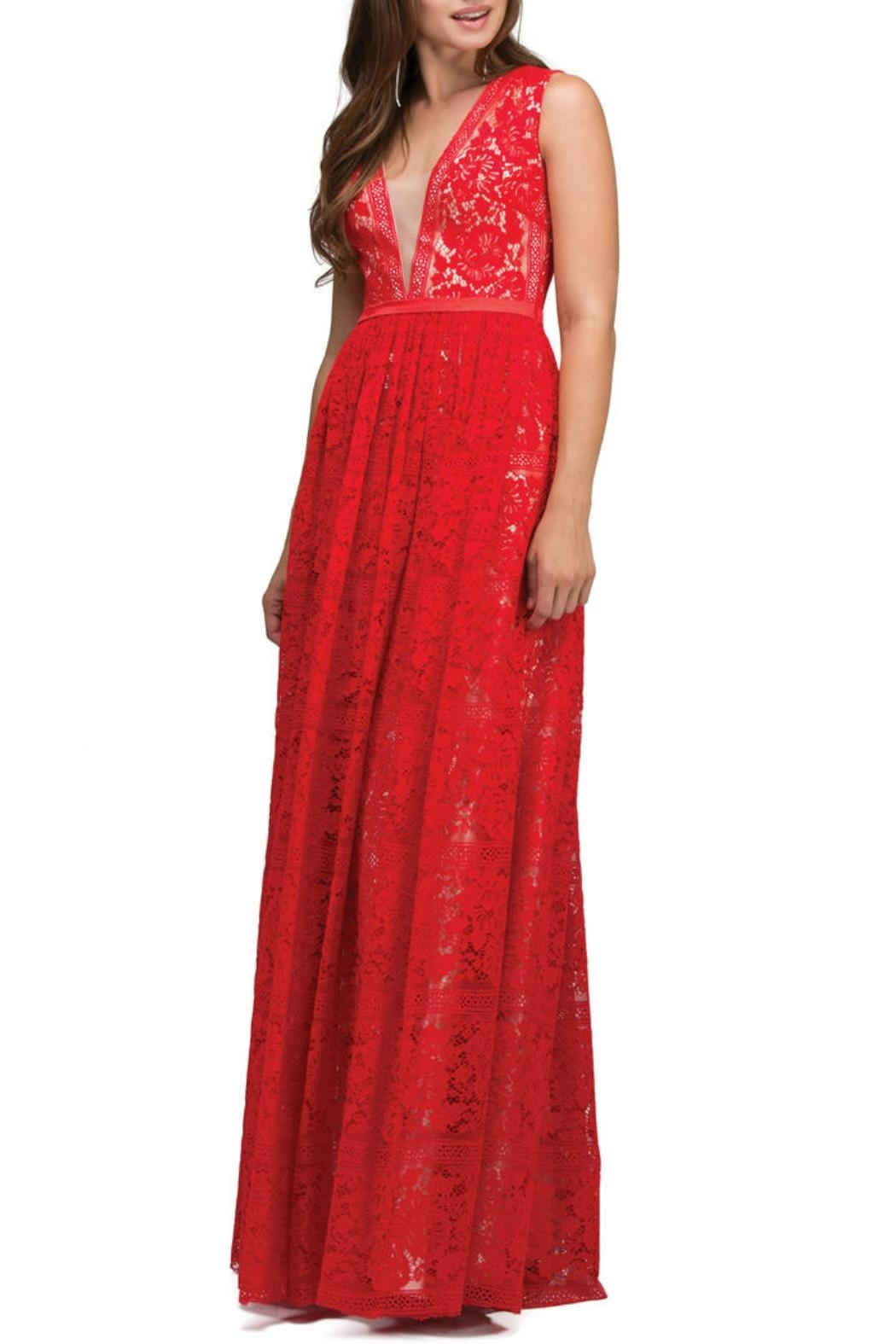 Lucci Lu Lace Empire Gown - Main Image