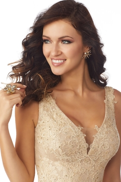 MGNY Lace Evening Gown, - Alternate List Image