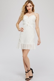 Hashtag Lace Eyelet Dress - Product Mini Image