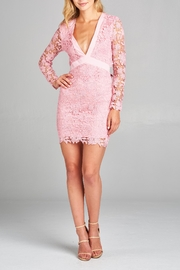 Racine Lace Fitted Dress - Front full body