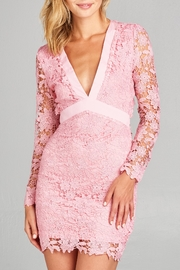 Racine Lace Fitted Dress - Front cropped