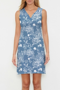Whimsy Rose Lace Floral Navy Slvlss Dress - Product List Image