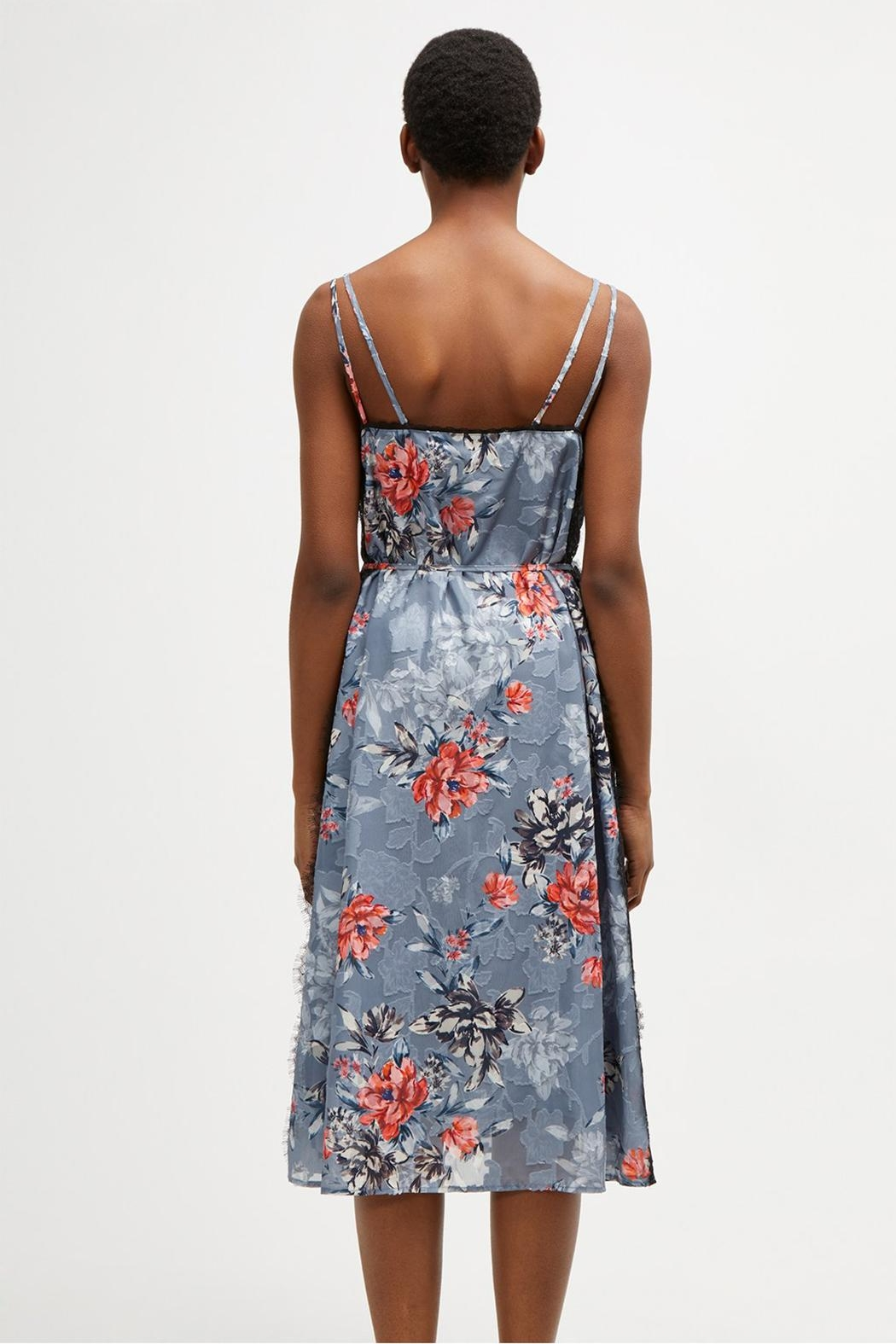 French Connection Lace Floral Slip - Back Cropped Image