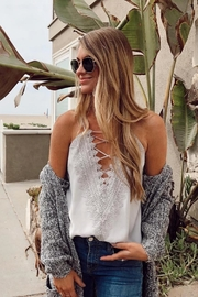 Wayf Lace Front Camisole - Back cropped