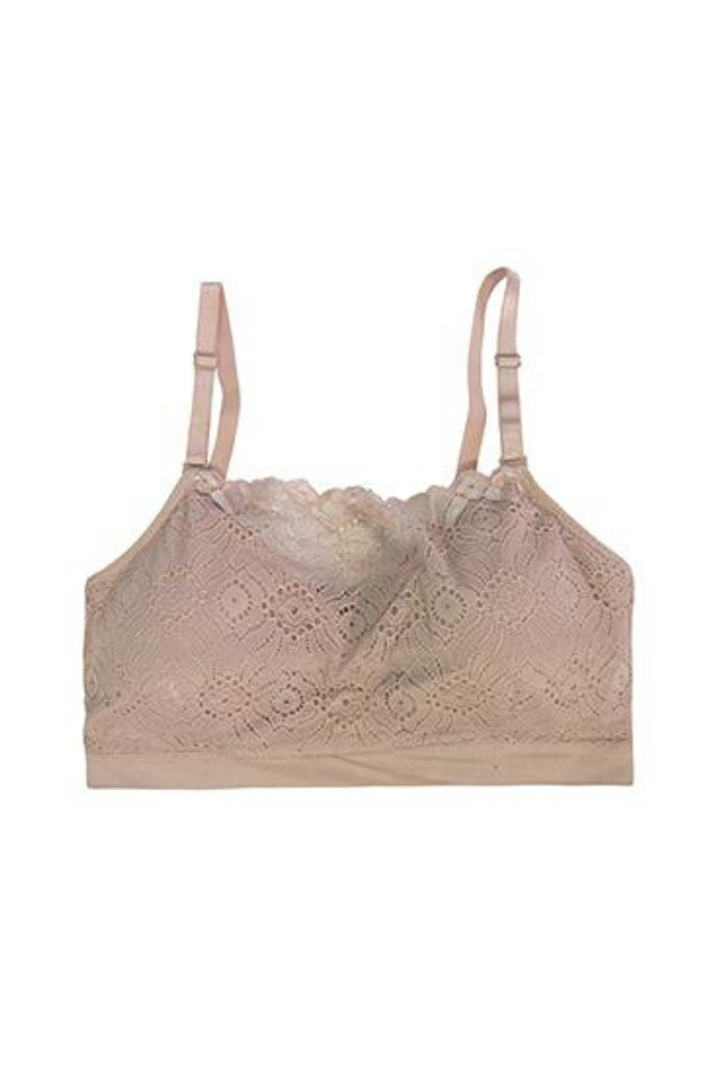 Coobie Lace Front Padded Bra - Front Cropped Image