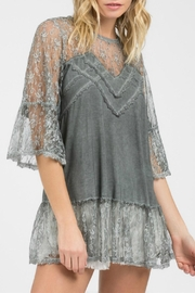 POL Lace Grey Top - Product Mini Image
