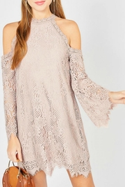 Entro Lace Halter Dress - Product Mini Image