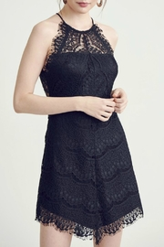 Pretty Little Things Lace Halter Dress - Front cropped