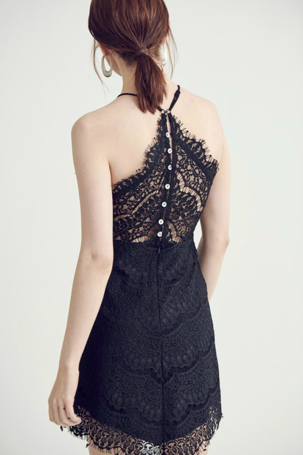 Pretty Little Things Lace Halter Dress - Front Full Image