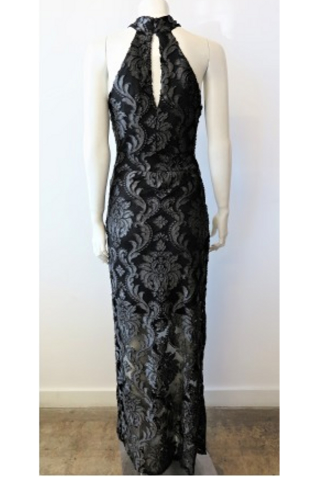 Veronica M Lace Halter Maxi Dress - Front Full Image