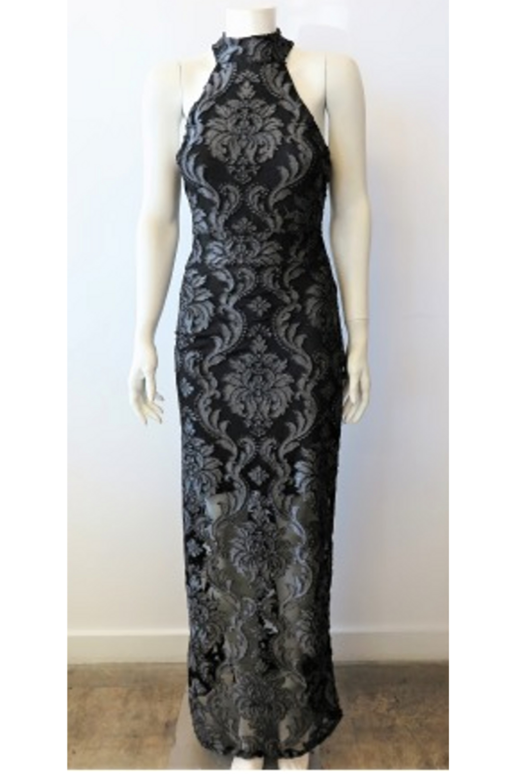 Veronica M Lace Halter Maxi Dress - Main Image
