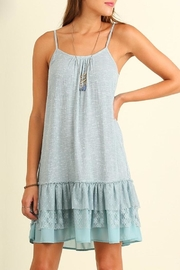 People Outfitter Lace Hem Dress - Back cropped