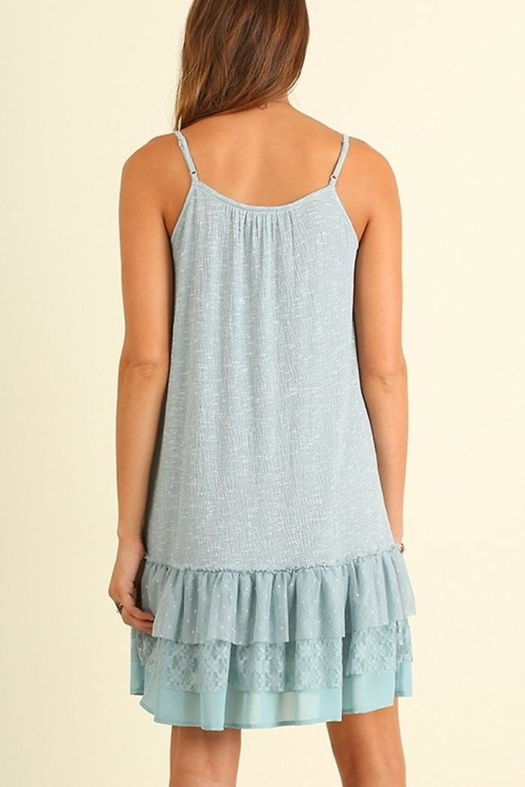 People Outfitter Lace Hem Dress - Side Cropped Image