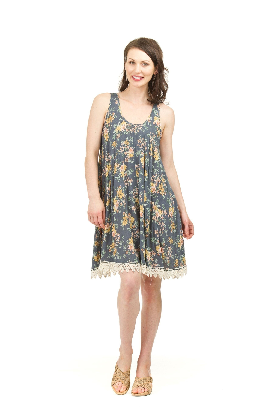 Papillon Lace-Hem Dress - Main Image