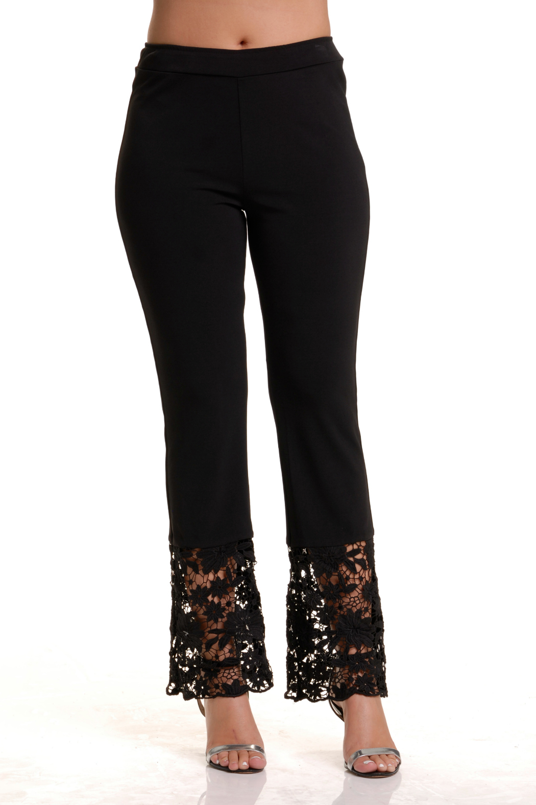 Bali Lace Hem Pull-on Pant - Front Cropped Image