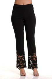 Bali Lace Hem Pull-on Pant - Front cropped