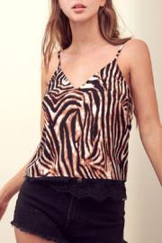 storia Lace Hem Tiger Print Cami - Product Mini Image
