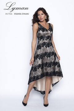 Frank Lyman Lace High-Low Formal Dress - Alternate List Image