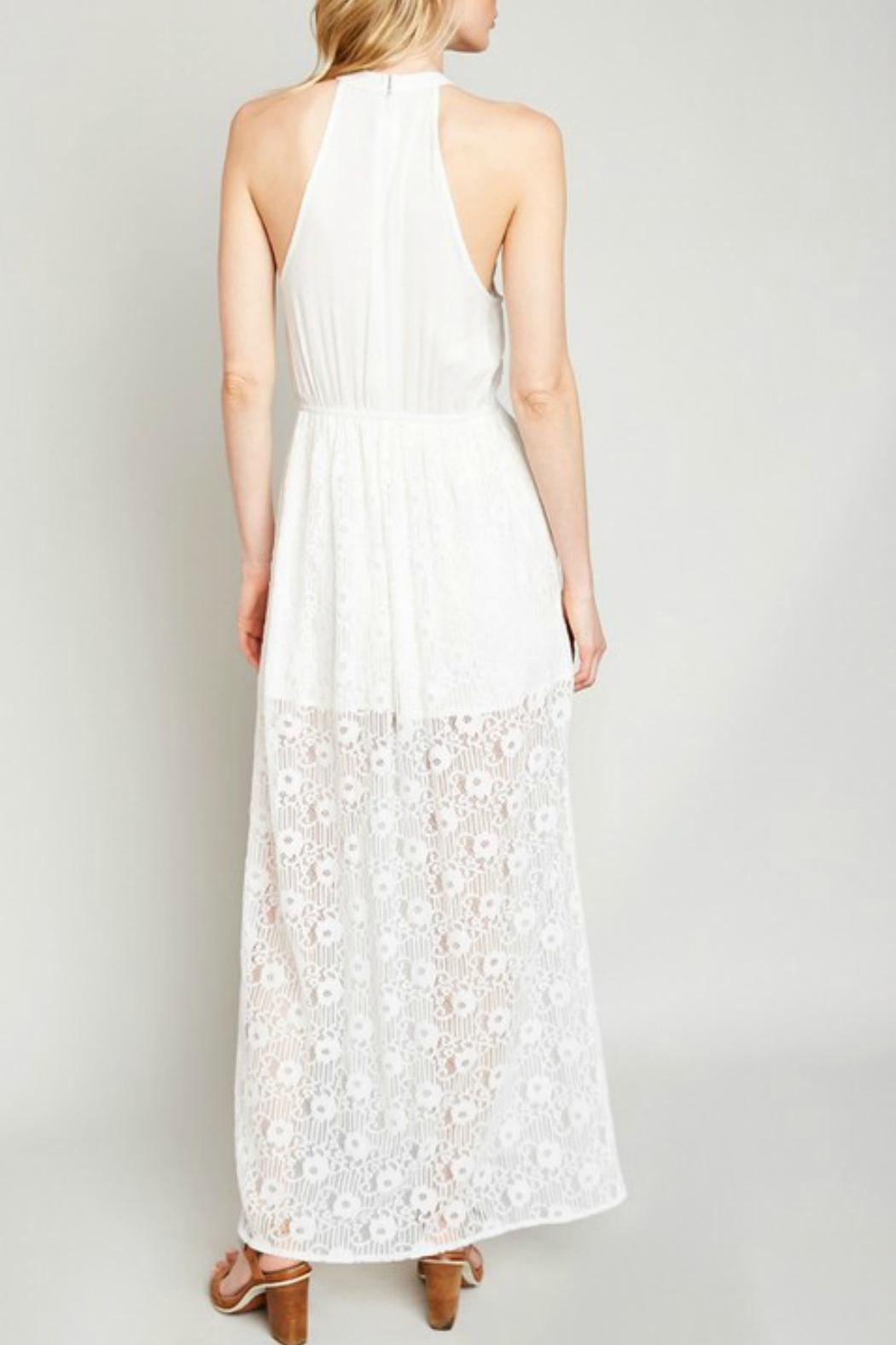 Hayden Lace High-Neck Maxi-Dress - Front Full Image