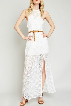 Hayden Lace High-Neck Maxi-Dress - Product List Image